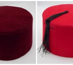 Turkish Folkloric Fez for Men - Red