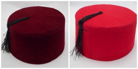 Turkish Folkloric Fez for Men - Red