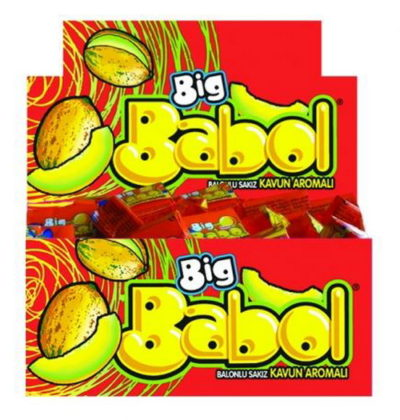 BIG BABOL BUBBLE GUM (bulk 80pcs) - Melon